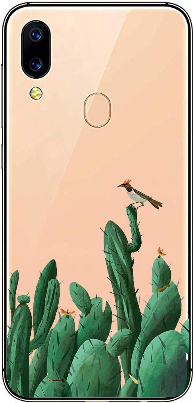 Oihxse Transparente Silicona Case Compatible con Xiaomi Mi 5X/Xiaomi Mi A1 Funda Suave TPU Protección Carcasa Moda Dibujos Animados Divertida Diseño Ultra-Delgado Cubierta-Pájaro