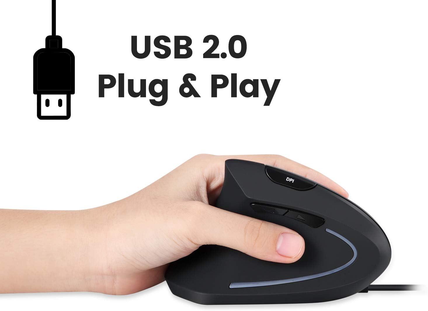 Perixx Perimice 513l Vertikale Ergonomische Maus Mit 2 Computer Zubehör