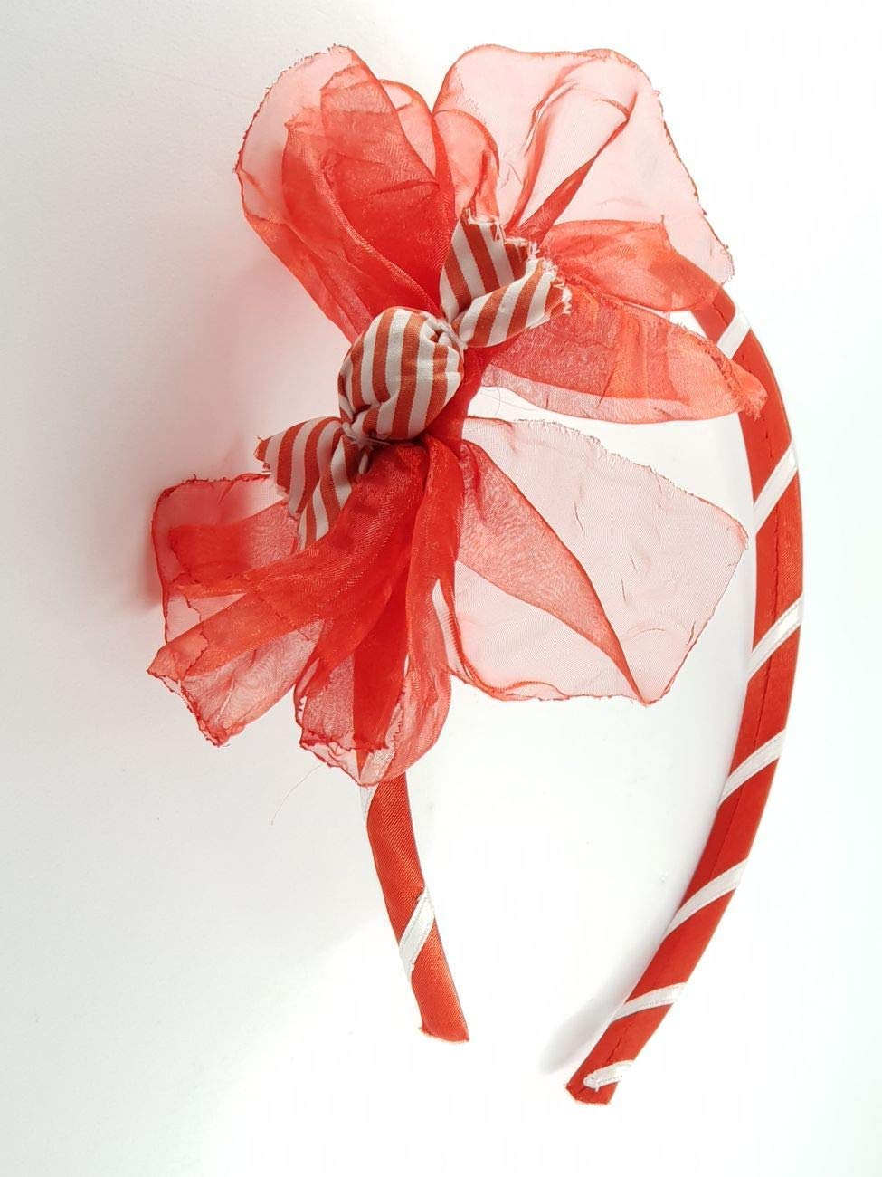 Cerchietto bambina rosso con fiocco❤️Natalizio❤️-fatto a mano