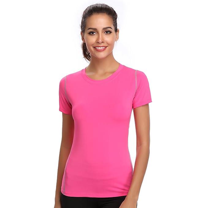 386e4e06c7f2 Amazon.com  Dri Fit T Shirts for Women Running TShirts Workout Base ...
