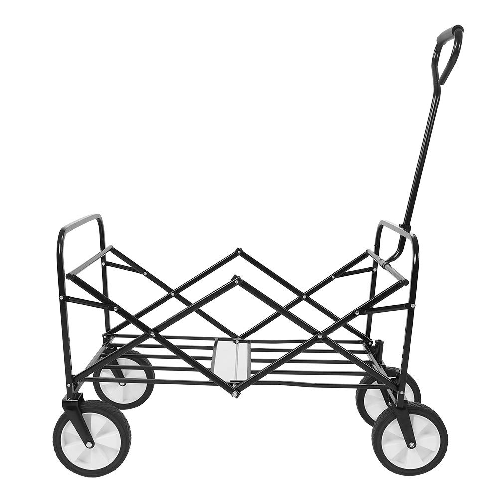 GOTOP Carrito de jard/ín Plegable con 4 Ruedas Carro de Transporte para Eventos al Aire Libre