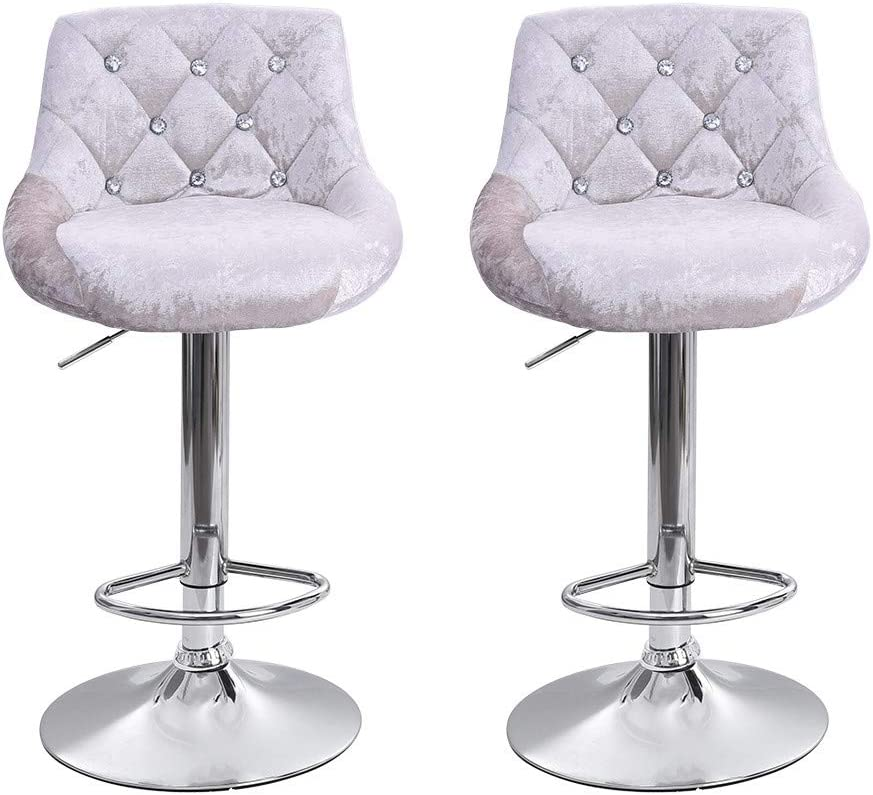 Pcs Leather Bar Chairs 360/° Height Swivel Stool Kitchen Counter Stools Dining Chairs 2019 New-Adjustable Bar Stools Purple