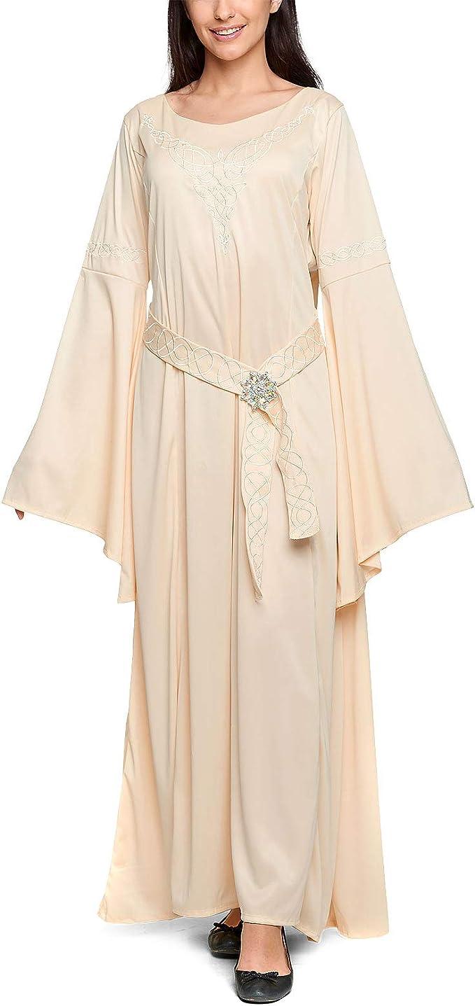 Arwen Traje de Las Damas Vestido Elfo con Broche 3 Piezas para ...