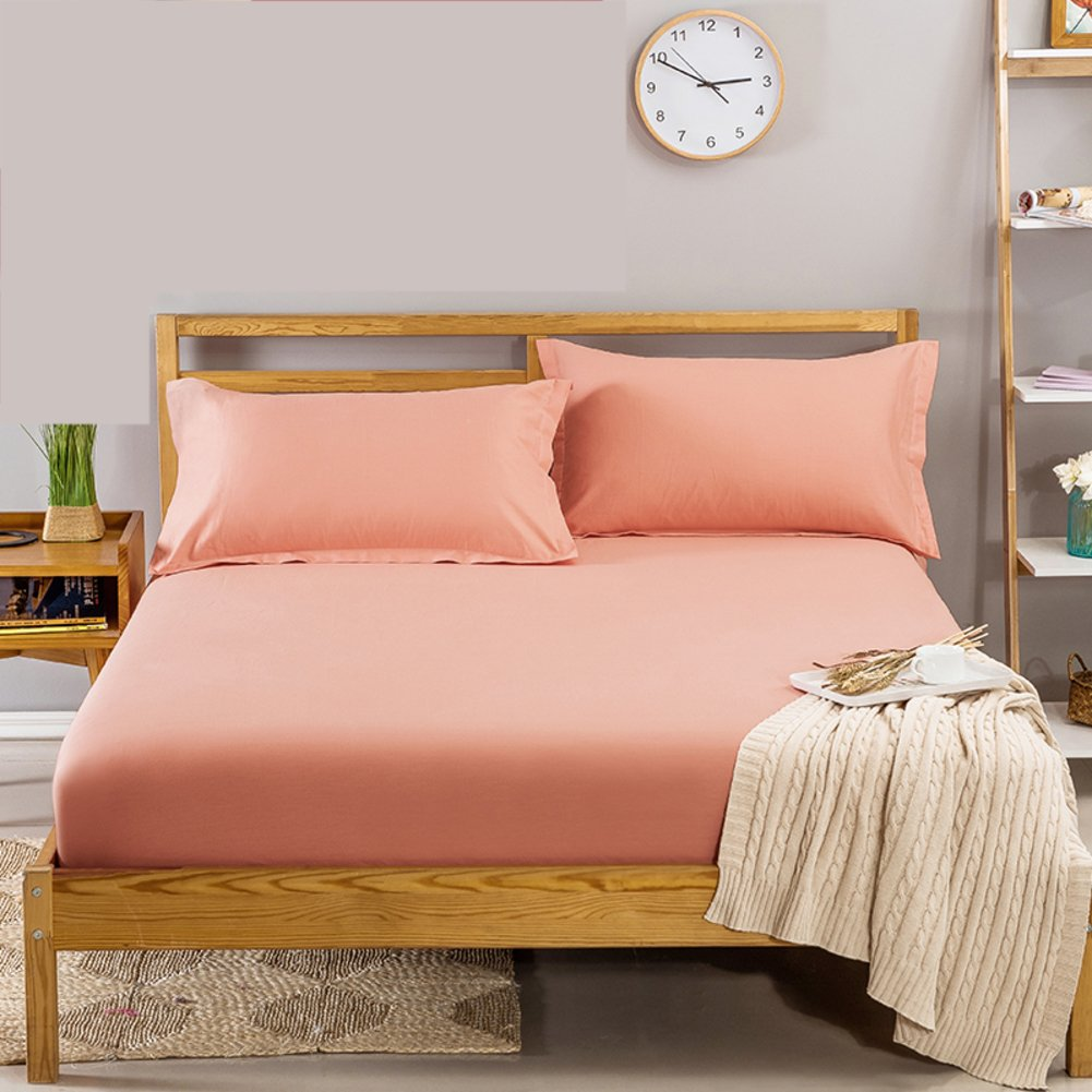 """Mattress Cover Fitted Sheet, Cotton top with Stretches to 12"""" deep Pocket Fully Elastic All Around Twin Queen-A 59''x79''+6'' DTNGFKW"""