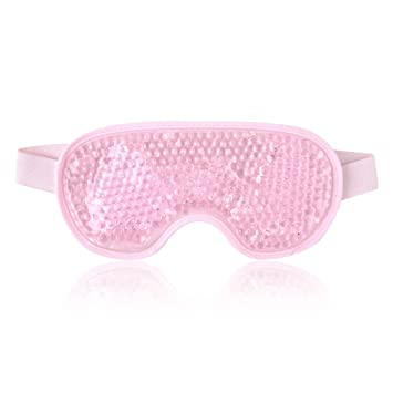 8dd825371 Amazon.com   Reusable Eye Mask with Gel Beads for Hot Cold Therapy ...