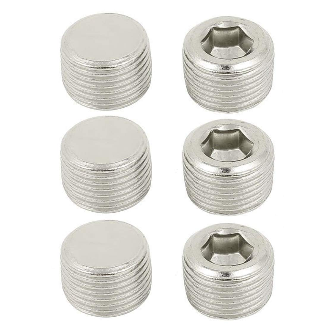 8BSP Thread 11mm Height with Hex Head for Hose Fitting Ochoos CSS 10pcs 3