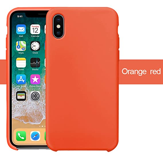 coque iphone 7 silicone orange