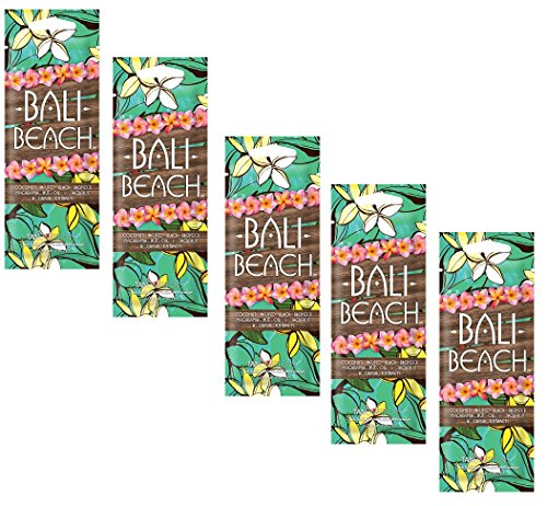 Lot of 5 Bali Beach Black Bronzer tanning Lotion Packets (Vibe Bronzer)