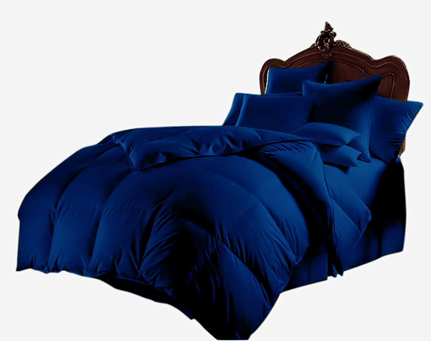 All Season Luxurious 800 Series,Luxury Goose Down Alternative Comforter, King Size - Quilt 3 Pc Comforter -100% Egyptian Cotton Comforter Set, Hotel Quality 600 GSM, Royale Blue, (90''x102'') by Majestic Bedding