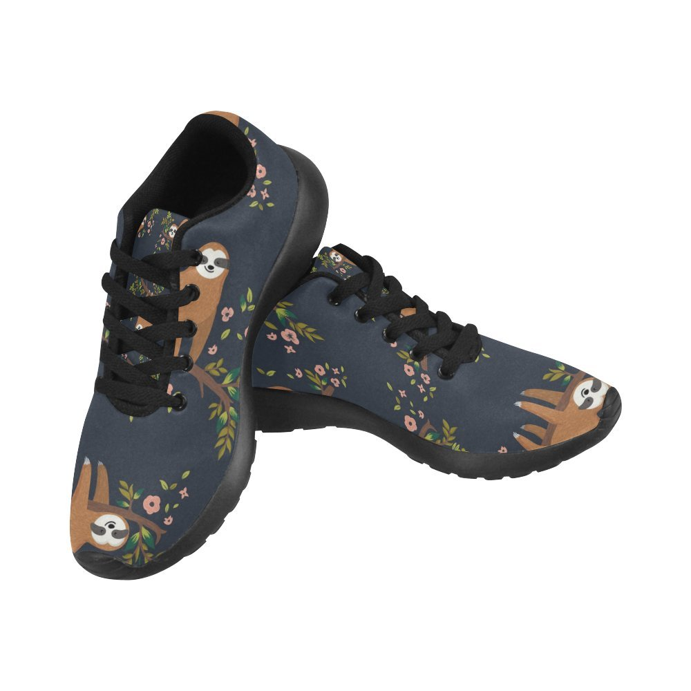 InterestPrint Women's Cross Country Trainer Trail Running Shoes Jogging Lightweight Sports Walking Athletic Sneakers Adorable Animal Cute Sloth On Tree Branch Size 8 B(M) US = EUR38