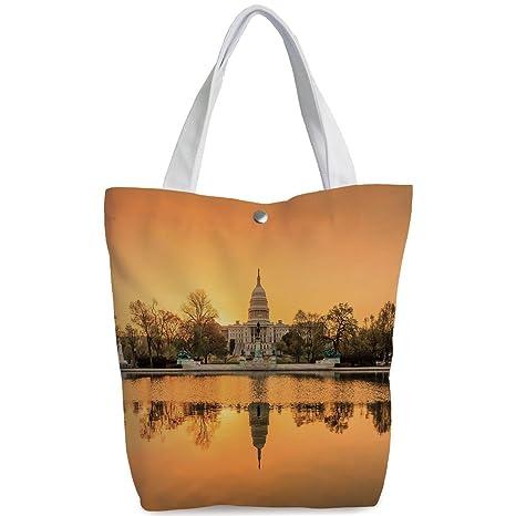 f887fa564b1 iPrint Canvas Shopping bag,shoulder handbags,Shoulder Bag,United States,Washington  DC