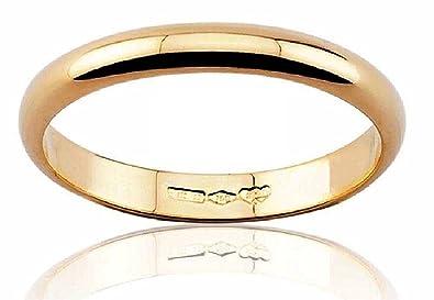 Anillo de Matrimonio, Oro Amarillo, 18 quilates 3 gramos, 4 mm Ancho,