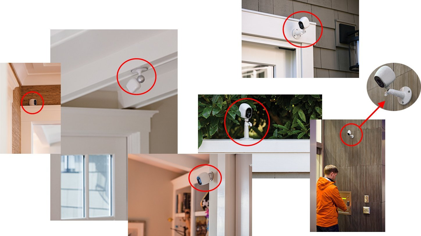 Arlo Smart Home Adjustable Mount for Wireless CCTV HD Security Camera, (Official), Black , VMA1000B-10000S - VMA100B Netgear