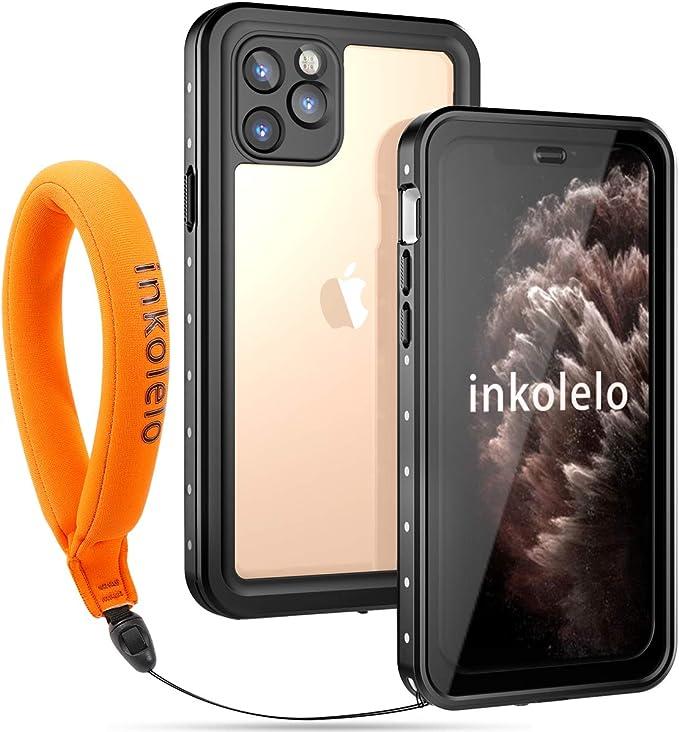 Inkolelo Funda Impermeable para iPhone 11 Pro, Protector de Pantalla Integrado, con Correa Flotante, IP68, Carcasa Impermeable para iPhone 11 Pro 5.8 ...
