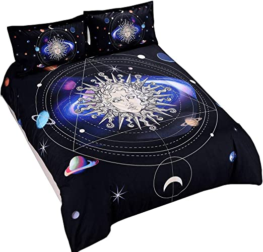 3D Spider Web Duvet Cover Black Bedding Set Modern Style Quilt Cover Pillowcase