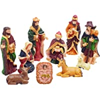Asian Hobby Crafts Three Kings Gifts Real Life Nativity Set 10 Pcs : Box Size 15 X12 Inches (Set A)