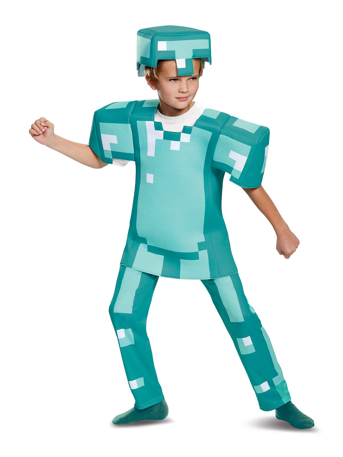 Armor Deluxe Minecraft Costume, Blue, Medium (7-8)