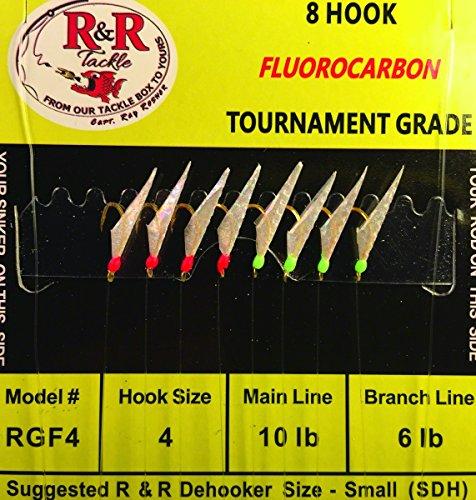 R&R RGF4 Fluorocarbon Sabiki SZ 4 Fishing (Fluorocarbon Sabiki Rigs)
