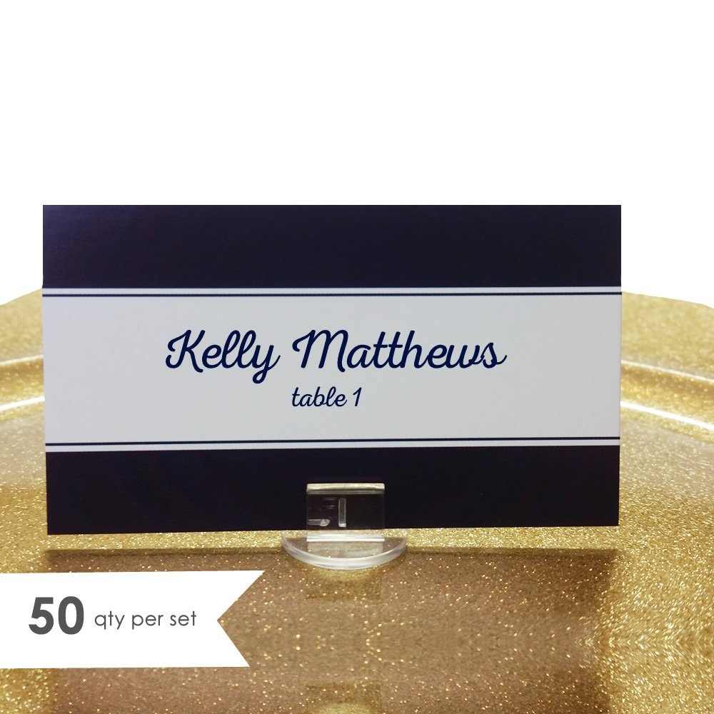 Navy Wedding Place Cards- Escort Cards Wedding (50 qty)