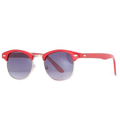 6a3256ee7c8f46 Accessoryo - Dames Rouges Classiques Forme Wayfarer Lunettes De Soleil Avec  Les Bras En Forme Et