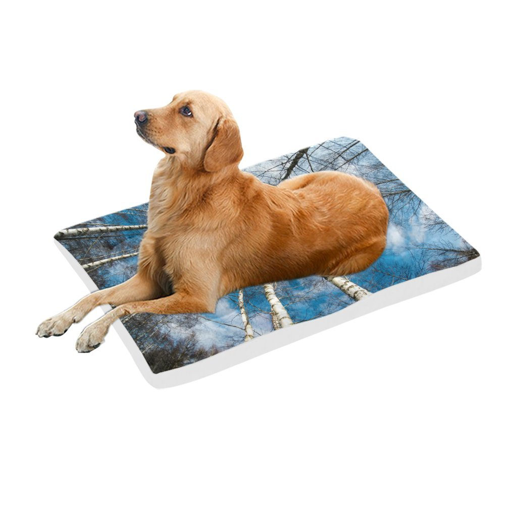 42\ your-fantasia Winter Forest Pet Bed Dog Bed Pet Pad 42 x 26 inches