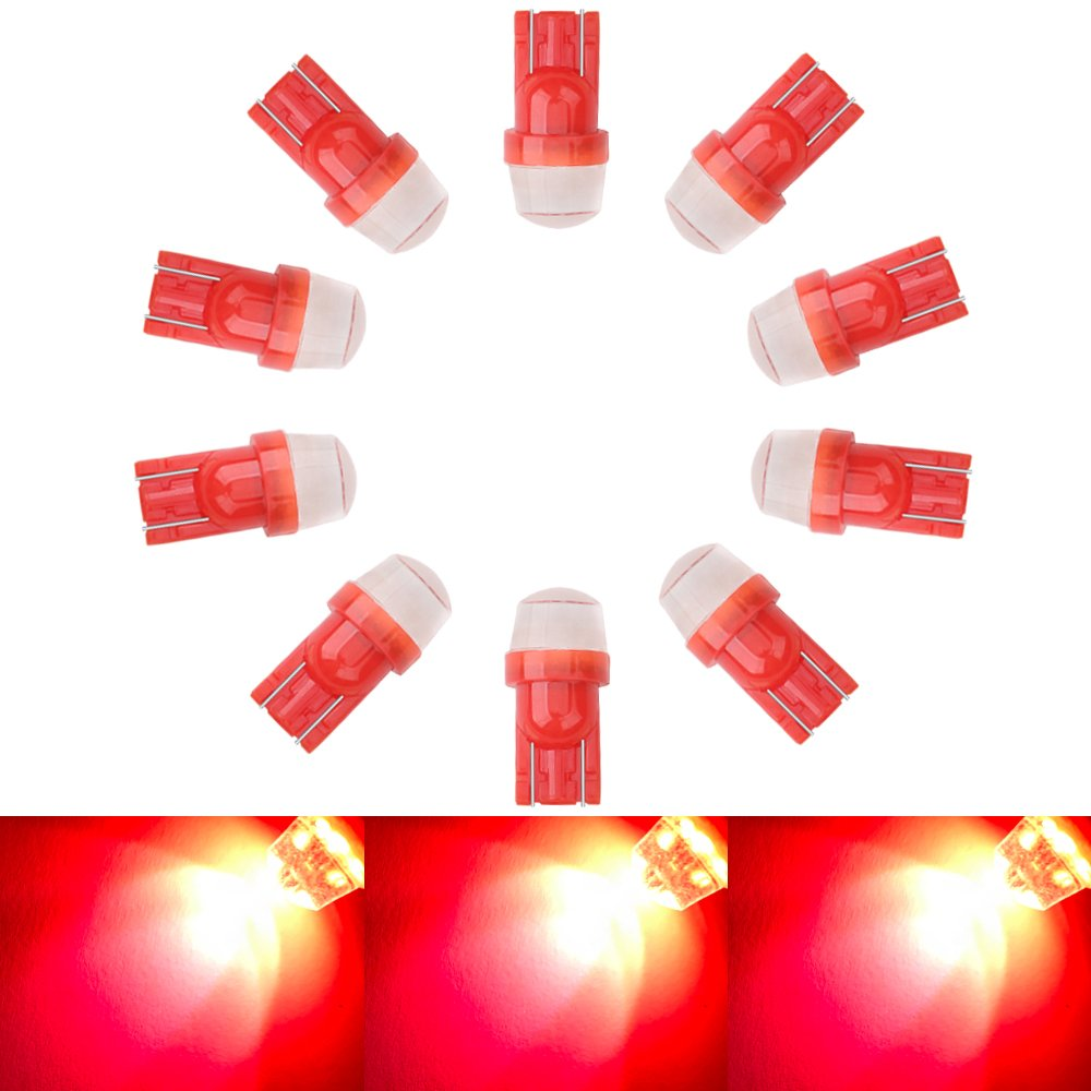 10PCS Red W5W 194 168 T10 Silica Gel LED Bulbs 3SMD 2835 for Wedge Side Lights, License Plate Lamp,Car Interior Light, Dome Light Bulbs 12v Guangzhou Ousucheng Lighting Technology Co. Ltd.
