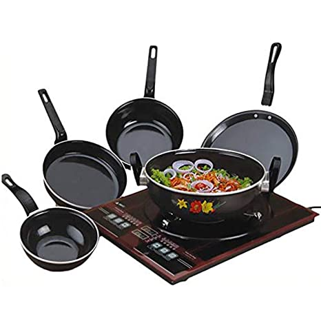 CELONA Milion Set of 5 Pcs Induction Base Induction Bottom Cookware Set  Non Stick , 5   Pieces