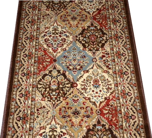 "Dean Panel Kerman Chocolate 31"" W Carpet Rug Hallway for sale  Delivered anywhere in Canada"
