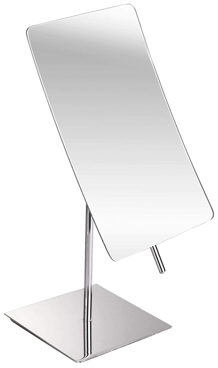 3X Magnified Premium Modern Rectangle Vanity Makeup Mirror 100 Guarantee Portable Polished Chrome Contemporary Finish Adjustable Easy Positioning Best Luxury Quality Magnifying Beauty Mirror