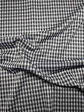 Precioso Ponte Roma Tela de Jersey Negro/Blanco Cuadros Vichy para Vestido, Camisas,Vestidos: Amazon.es: Hogar