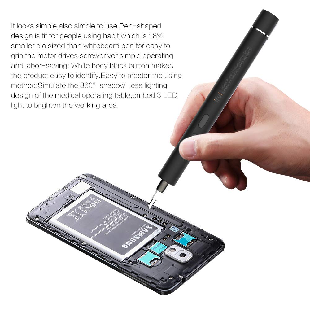 black Huawei Phone Laptop Digital Watch Drone IFU 22 in 1 Mini Cordless Electric Screwdriver Set eyeglasses Tighten And Loosen Screws Repair tool for iPhone