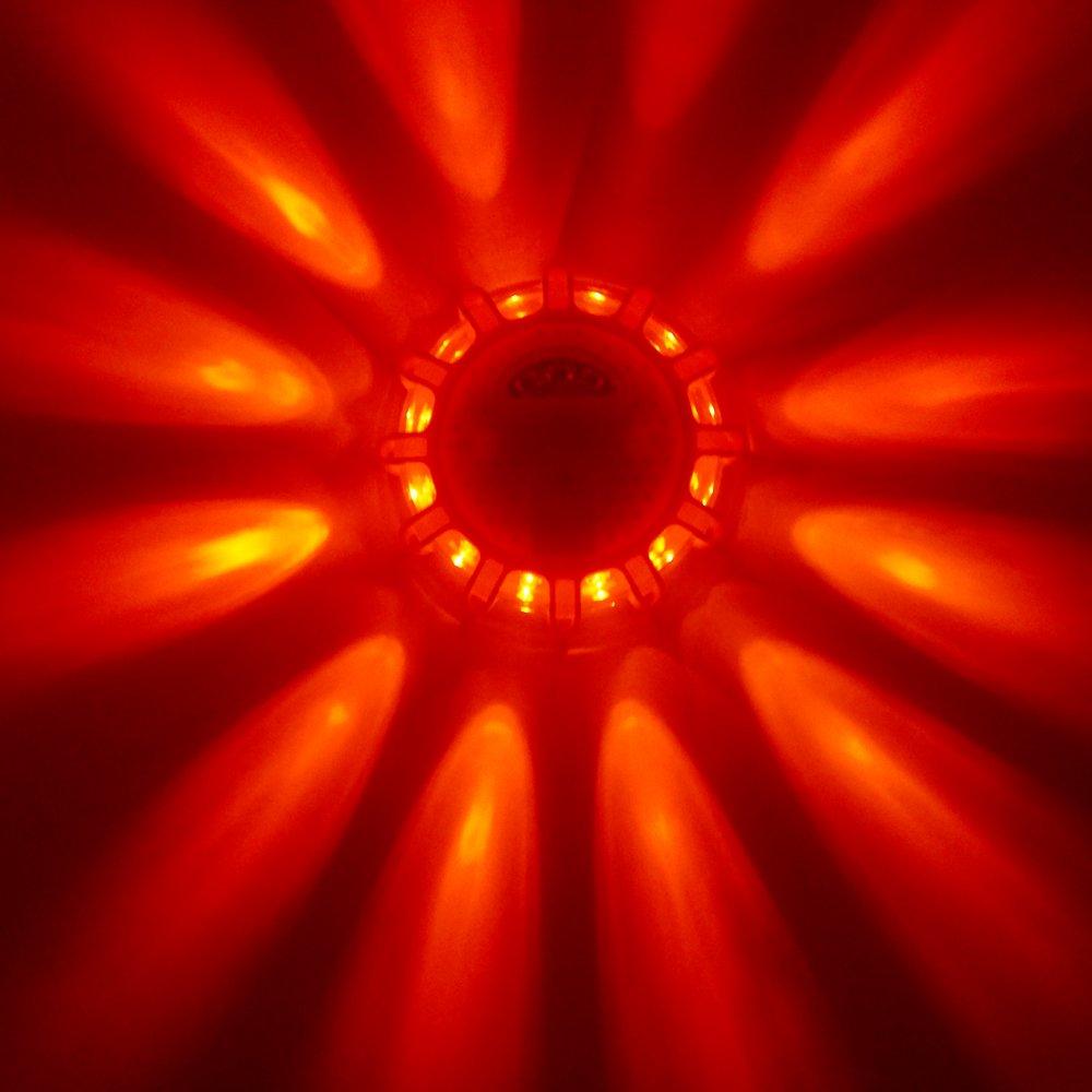 Magnetic Base for Car or Boat Rainproof LED Road Flashing Warning Safety Light Roadside Emergency Disc LED Flare Road Beacon