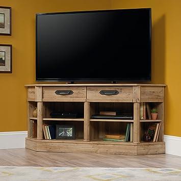 Amazon.com: Sauder Viabella Corner TV Stand in Antigua Chestnut ...