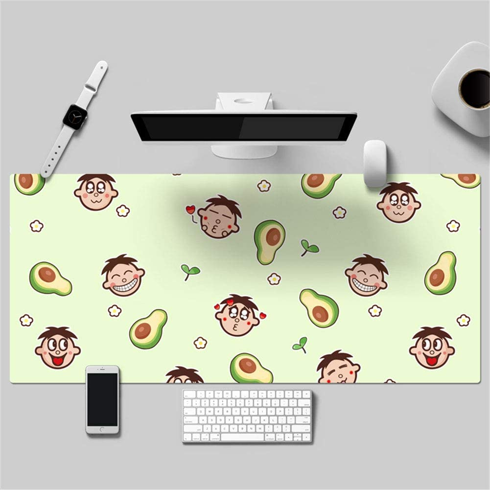 LL-COEUR Lovely Child Fruit Vegetables Leather Mouse Pad Gaming Keyboard Mat Waterproof Table Mat Thickness 2mm (1200 x 600 x 2 mm 7)