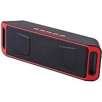 SEEDARY Altavoz bocina portátil Bluetooth, Bocina Radio FM Manos Libres inalámbrica Graves mejorados para Exteriores con Audio HD Altavoz Doble Controlador Integrado 4.2 - Rojo