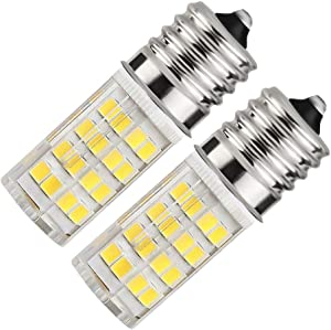 8206232A Microwave Oven Stovetop Light, Equivalent 40W Appliance Light Bulb Refrigerator Bulb Replacement S11 T8 T7 E17 Intermediate Base | for Oven Part 8206232A 1890433 AP4512653 (Daylight White)