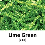 Crinkle Cut Paper Shred Filler (2 LB) for Gift Wrapping & Basket Filling - Lime Green | MagicWater Supply