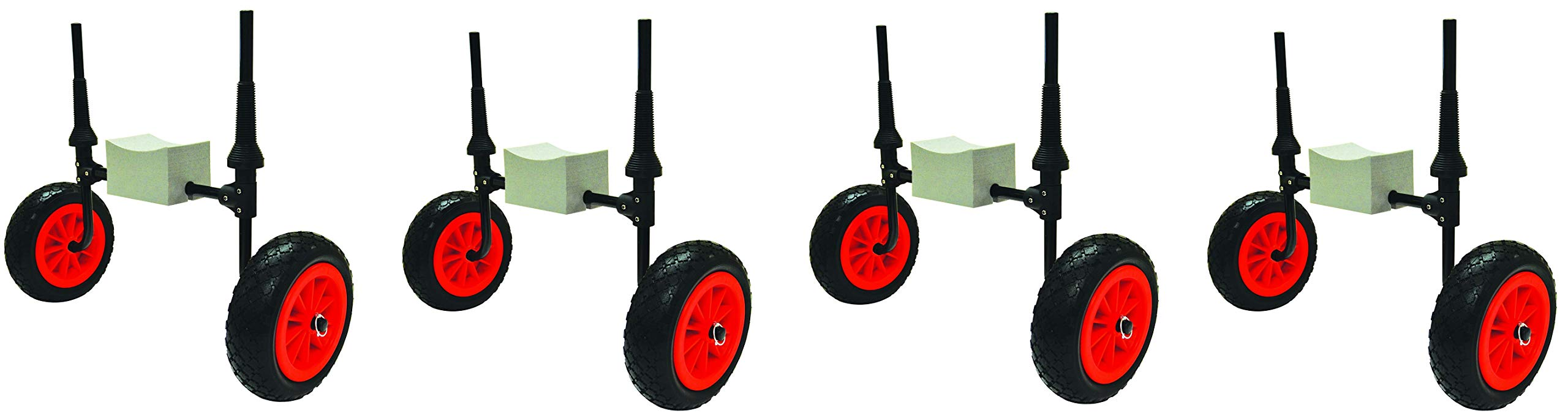 Malone Xpress Scupper-Style Kayak Cart for Sit-On-Top Kayaks (Pack of 4) by Malone