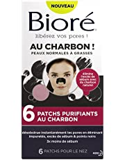 BIORÉ Set de 6 Patchs Purifiants au Charbon - Lot de 2