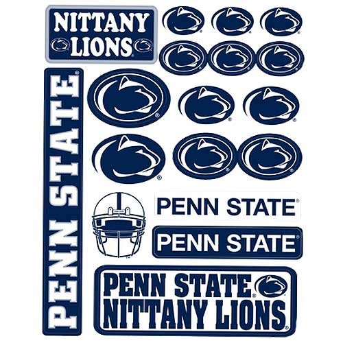 Penn State Nittany Lions Vinyl Cling Stickers 18 Removeable Decals NCAA Licensed ()