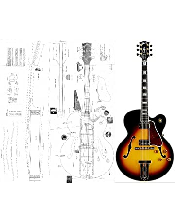 Gibson L-5 CES Archtop Electric Guitar Plans - Full Scale Design Drawings Plans -