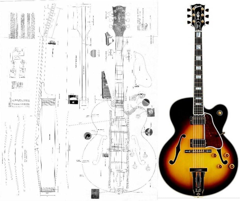 Gibson L-5 ces Archtop guitarra eléctrica – escala completa diseño ...