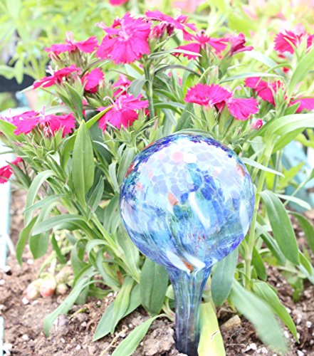 LeBeila Plant Watering Bulbs Globes 3 Small Automatic Self Watering Planter Stakes Glass Buld Balls for Indoor Outdoor Plants, Bonsai Potted Flowers, Garden Decorative Aqua Globs (3pcs, Multicolor)
