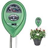 VENSMILE 3 in 1 土壌のPH/照度/水分検定 土壌測定器 土壌酸度/照度/水分計 土壌測定メーター 土壌 テスター 多機能 電池不要 簡易型 屋内/屋外使用でき 農業、栽培、家庭菜園など適用