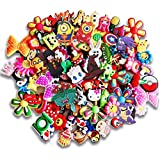 25 Pcs PVC Different Shoe Charms for Croc & Bracelet Wristband Kids Party Birthday Gifts