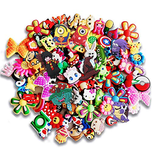 25 Pcs PVC Different Shoe Charms for Croc & Jibbitz Bracelet Wristband Kids Party Birthday Gifts