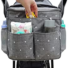 Parents Organizer Bag - Fits All Baby Strollers. Travel Bag W/ Removable Shoulder Strap for Carrying Bottles, Diapers, Toys & Snacks. Insulated Cooling Construction W/ Cup Holder & Storage Pockets