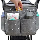 Parents Stroller Organizer Bag - Fits All Baby Stroller Models. Travel Bag with Shoulder Strap for Carrying Bottles - Diapers - Toys & Snacks. Insulated Cooling System - Cup Holder & Storage Pockets