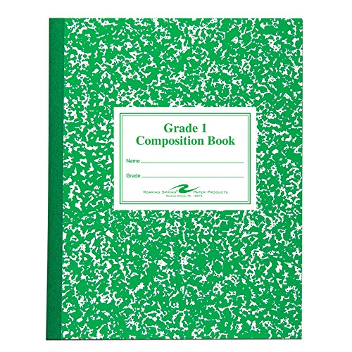 Roaring Spring Grade 1 Composition Book, 10'' x 8'', 50 sheets, 5PK by Roaring Spring