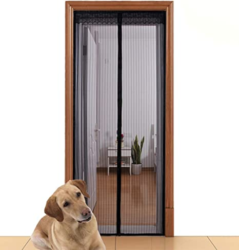 """Premium Magnetic Mesh Hands-Free Screen Door Fits Doors Up To 39.5/""""x83/"""""""